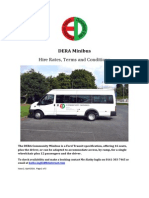 DERA Minibus Hire Rates, Terms and Conditions Document Issue 2 April 2014