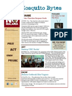 The Official Newsletter of Imagine No Malaria Dec 2009
