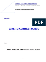 Resumo de Direito Administrativo - Fernanda Marinela