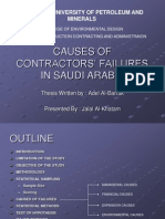 Causes of Contractors Failure in 4