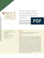 Reactive Oxygen Species in Phytopathogenic Fungi