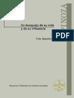 Spinoza. Un Bosquejo de Su Vida y de Su Influencia - Mauthner, Fritz