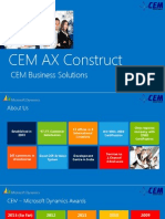 CEM AX Construct - ERP solution for construction industry
