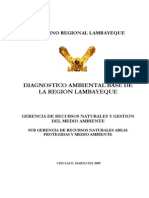 Diagnóstico Ambiental Base Región Lambayeque 2005
