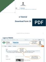 E-Tutorial - Download Form 16
