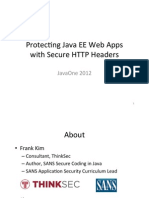 Protec'ng Java EE Web Apps with Secure HTTP Headers