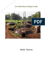 A New Approach to Microfinance Biogas in India