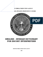 0988226 BC9C7 English Russian Dictionary for Escort Interpreters