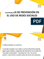 Consejos de Prevención en El Uso de Redes