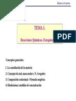 TEMA 1A- Reacciones Químicas. Estequiometría Cv