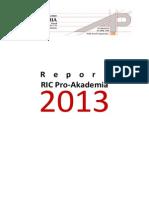 Activity Report RIC Pro-Akademia 2013