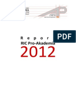 Activity Report RIC Pro-Akademia 2012
