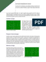 Tácticas Ofensivas en Juego Futbol Nivel i