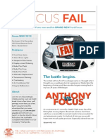 THE WORLD'S LONGEST MOST RIDICULOUS YET JUSTIFIABLE COMPLAINT NEWSLETTER TO A CAR COMPANY