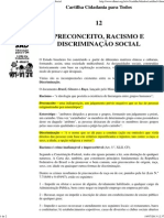 Cartilha - Preconceito, Racismo e Discriminação Social