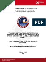 Benavides Mateo Valuacion Bolsa Valores Lima