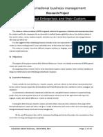 Multi-National Enterprises and their Custom