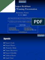 Project KickStart Create a Winning Presentation Project