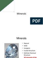 notes -minerals
