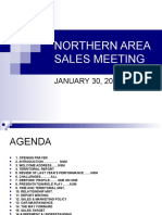 NORTHERN AREA SALES MEETING