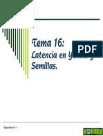 Tema 16 Latencia en Yemas y Semillas