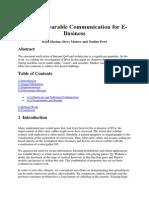 Virtual, Wearable Communication for E-Business