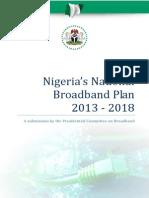 The Nigerian National Broadband Plan 2013