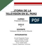 Historia de La Television en El Perú