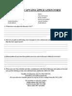 Iac Team Captains Application Form
