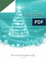 Stanneylands Christmas Brochure 2014