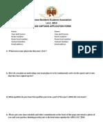 ARSA IAC 2014 Team Captains Application Form