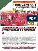 Panfleto Marcha Das Centrais e Movimentos Sociais PDF
