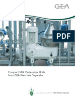 Compact Milk Pasteurizer Units Brochure
