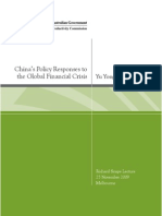 China's Policy Responses to the Global Financial Crisis