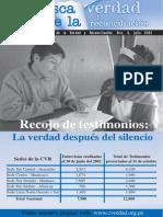 Boletín de La Comisión de La Verdad y Reconciliación. Nro. 3, Julio 2002