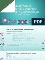 Salud Mental, Emocional y Espiritual en Niños