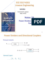 Notes 19 - Power Dividers and Couplers Part 1
