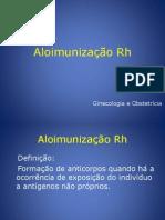 Aloimunização Rh Aula