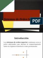 Sistemas Orden Superior