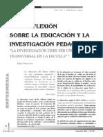 Una Reflexion Sobre La Educacion y La Investigacion Pedagogica