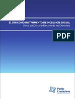 El DNI Como Instrumento de Inclusión Social Poder Ciudadano Argentina