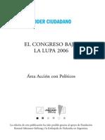 El Congreso Bajo la Lupa 2006 Poder Ciudadano Argentina