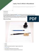 Design.tutsplus.com-Mastering Calligraphy How to Write in Roundhand Script