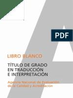 """traduccion """" libro blanco"""""""