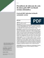 Prevalência de Infecção Do Colo Do Útero Pelo HPV No Brasil- Revisão Sistemática