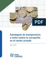 Estrategias De Transparencia y Lucha Contra La Corrupción En El Sector Privado Poder Ciudadano Argentina