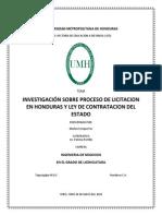 Proceso de Licitacion en Honduras