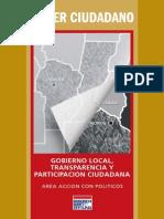 Gobierno Local Transparencia y Participación Ciudadana Poder Ciudadano Argentina