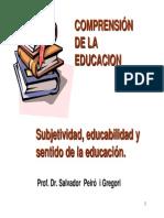 5. Subjetividad-educabilidad-educación y Educatividad