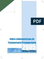 Indice Latinoamericano de Transparencia Presupuestaria 2005 Poder Ciudadano Argentina